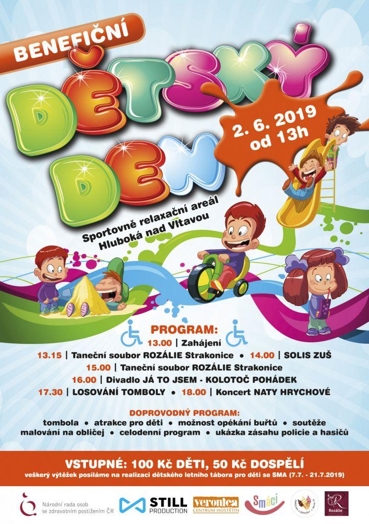 Pozvánka na Benefiční dětský den 2.6.2019 na Hluboké nad Vltavou 1